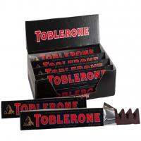 Швейцарский черный шоколад Toblerone с медом и миндальной нугой 100г