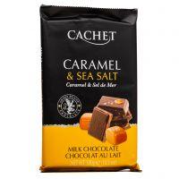 Молочный шоколад Cachet карамель и морская соль 32% 300 г