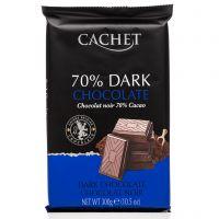 Экстра чёрный шоколад Cachet 70% какао 300 г